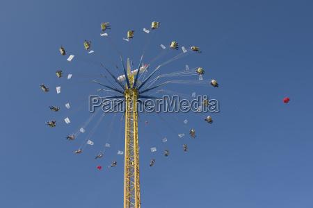 germany bavaria munich flying swing at