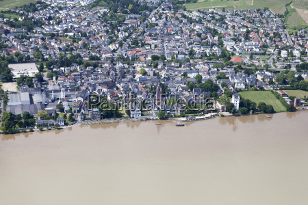 germany hesse high water of river