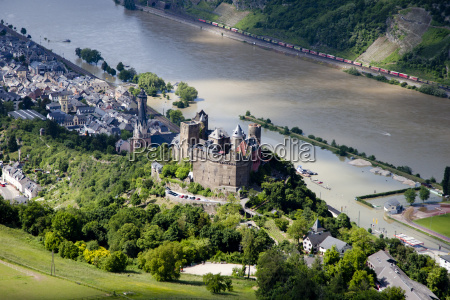 germany rhineland palatinate oberwesel view of