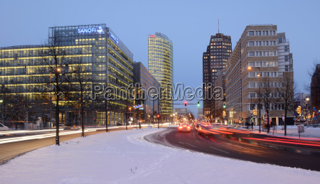 germany berlin traffic at potsdamer platz