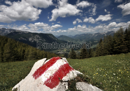 austria view of northern alps and