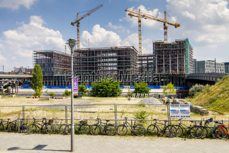 germany berlin construction site of buildings