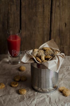 cheese crackers with blood orange juice