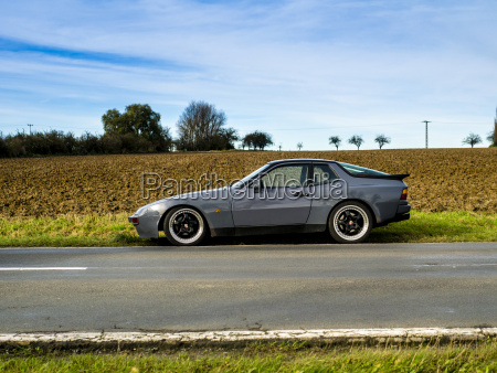 germany thuringia sports car parked on