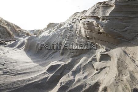 denmark henne strand sand dune close