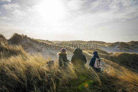 denmark henne strand people hiking in