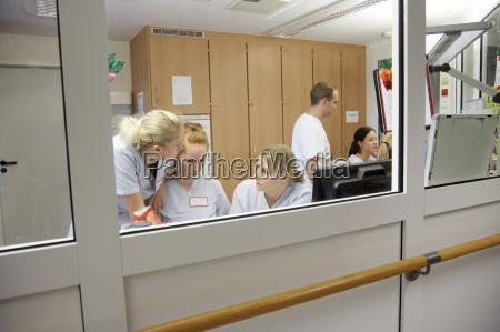 germany freiburg nurses station in hospital