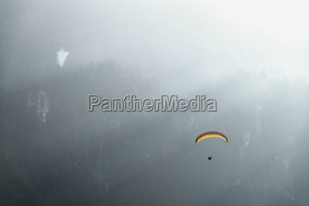 germany pfronten paraglider in front of