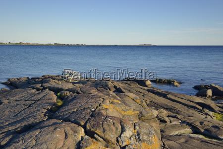 sweden varberg rocky coastline at kattegat