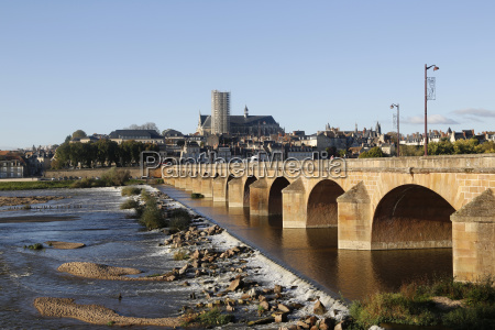 france burgundy loire bridge in nevers