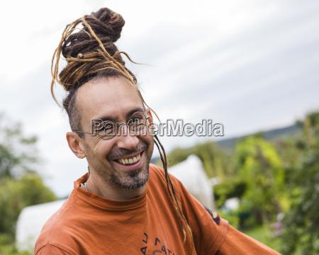 austria schiltern smiling alternative gardener portrait