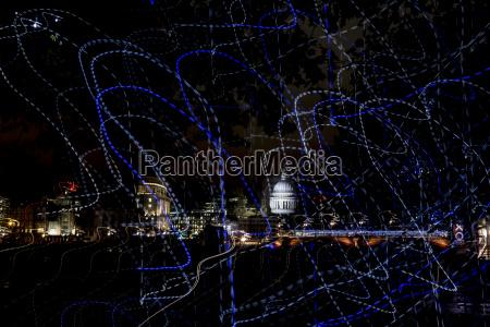 uk london view to illuminated st