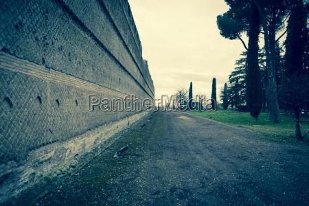 italy tivoli wall of hadrians villa