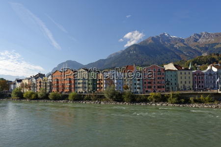 austria tyrol innsbruck colorful houses at