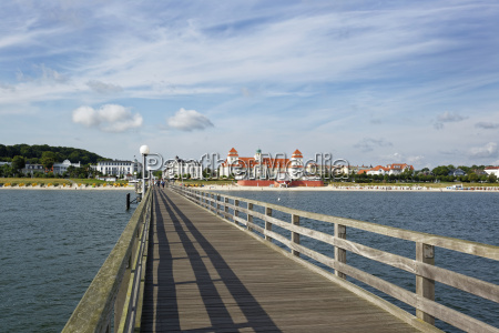 germany binz view from boardwalk to