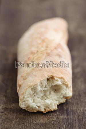 piece of baguette close up