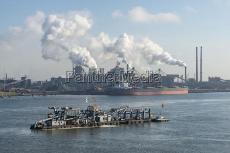 netherlands amsterdam view of tata steel