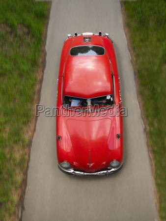 germany wiesbaden red porsche 956 driving