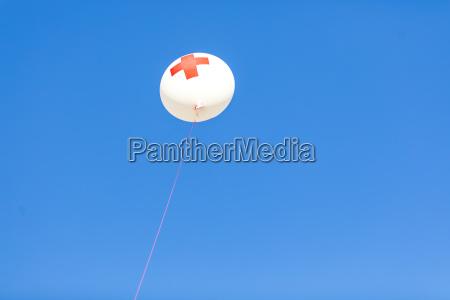 germany munich red cross balloon in