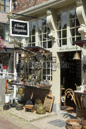netherlands delft antique shop in the