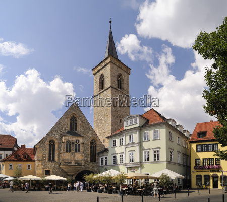 germany erfurt view to st giles