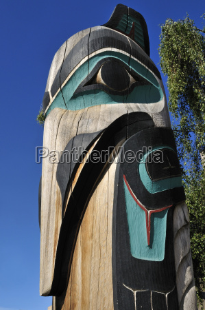 usa alaska view of totem pole