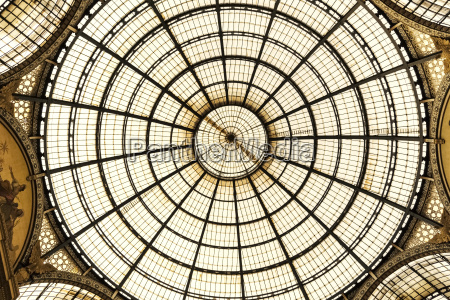 italy milan view to glass dome