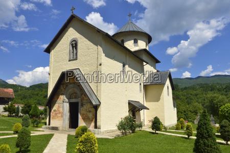 montenegro view of orthodox moraca monastery