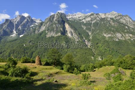 albania balkans view of valbona valley