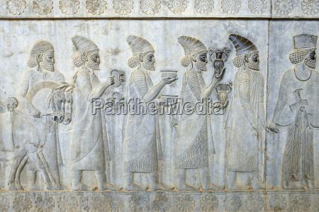 iran persepolis apadana palace detail of