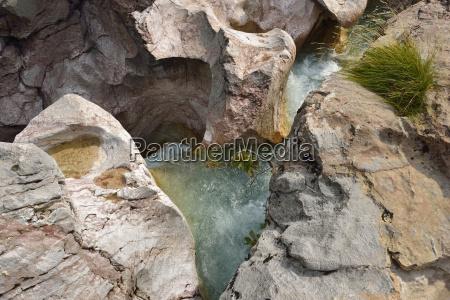 albania albanian alps marble pools at