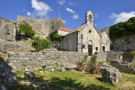montenegro crna gora small church in