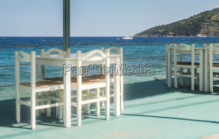 greece table and chairs of taverna