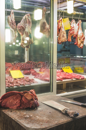 greece athens piraeus meat at market