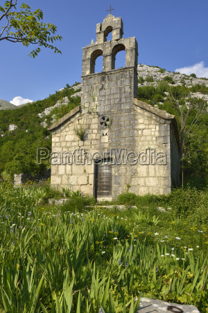 montenegro crna gora abandoned church of