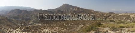 spain andalusia almeria tabernas desert panorama