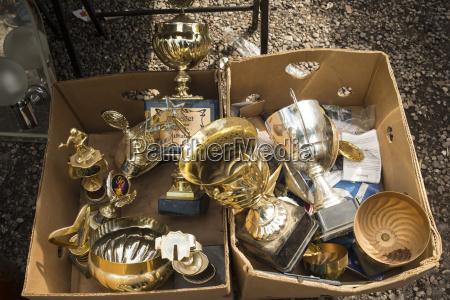 germany berlin old trophies in flea