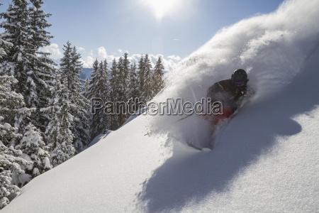austria tyrol mid adult man skiing
