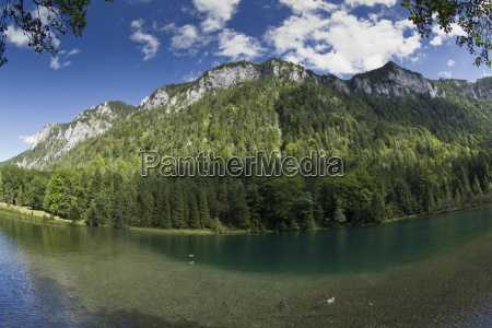 germany bavaria chiemgau lake falkensee with