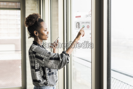 young woman receiving a call on