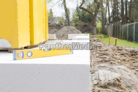 germany brandenburg spirit level at construction