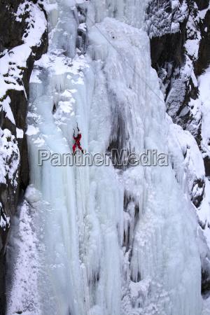 norway telemark rjukan ice climber in
