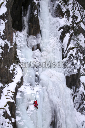 norway telemark rjukan ice climber in