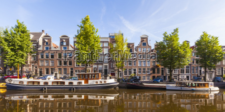 netherlands amsterdam view to row of