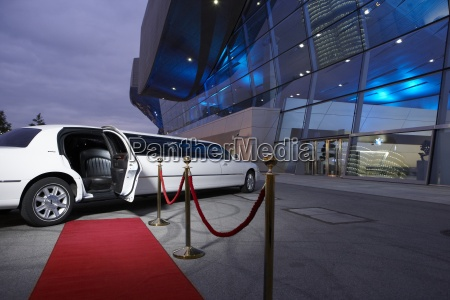 germany munich stretched limousine at red