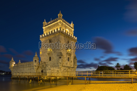 portugal lisbon view of belem tower