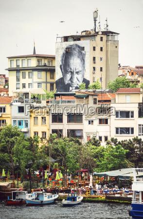 turkey istanbul cityscape at the bosporus