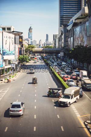 thailand bangkok traffic jam in a