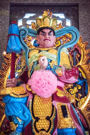 thailand kanchanaburi statue of guan yu