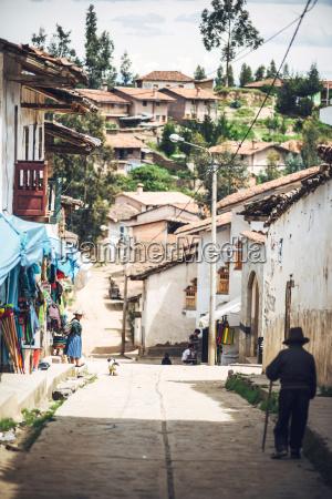 peru small village in huaraz with